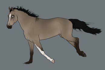 Картинка рисованные животные лошади фон лошадь