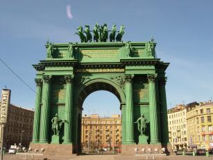 обоя санкт- петербург, города, санкт-петербург,  петергоф , россия, арка, санкт-, петербург, нарвские, ворота