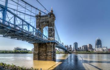 Картинка города -+мосты мост город река