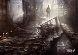 Картинка anas+riasat фэнтези иные+миры +иные+времена руины постапокалипсис разрушения иной мир