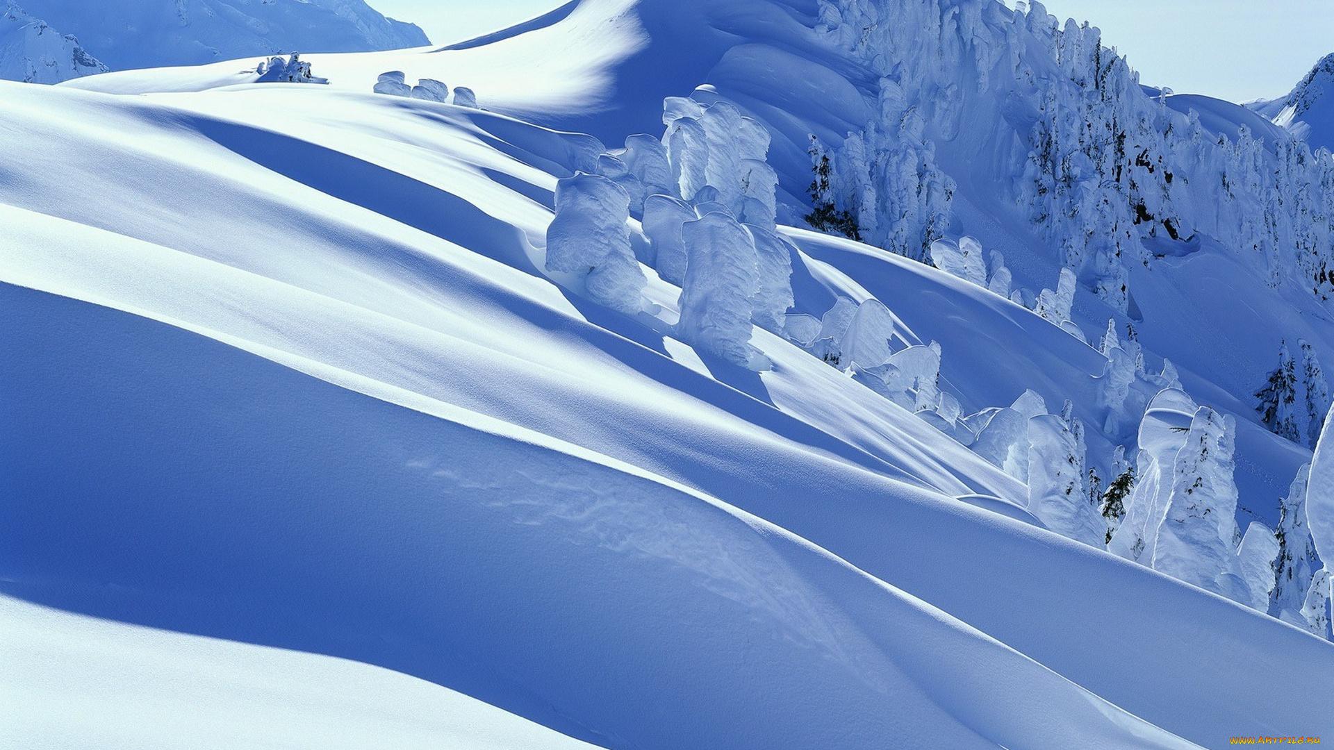 Снег на горных склонах  № 2944917  скачать