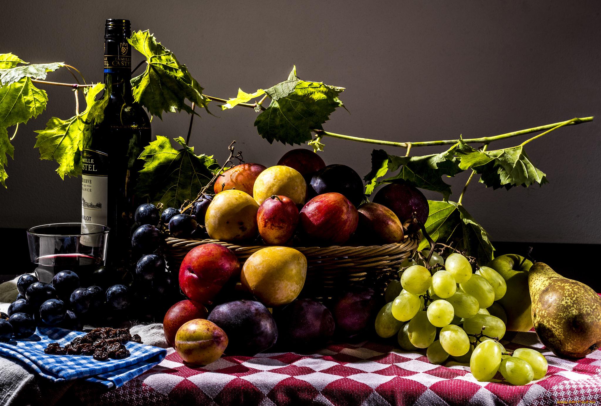 Белыми розами, картинки с вином и фруктами красивые