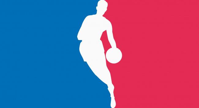Обои картинки фото спорт, 3d, рисованные, баскетболист, красный, синий, силуэт, мяч
