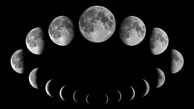 Обои картинки фото космос, луна, фон