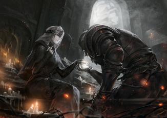 Картинка видео+игры dark+souls fire keeper dark souls