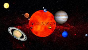 обоя космос, арт, звезды, вселенная, планеты