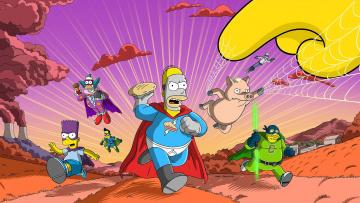 обоя мультфильмы, the simpsons, симпсоны