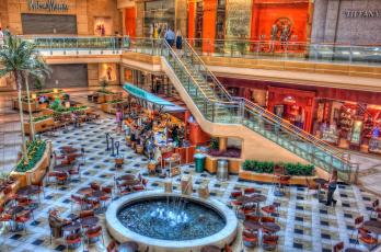 обоя интерьер, казино, торгово, развлекательные, центры, фонтан, лестница, бутики, кафе