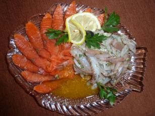 Картинка еда рыба +морепродукты +суши +роллы лосось селедка лимон