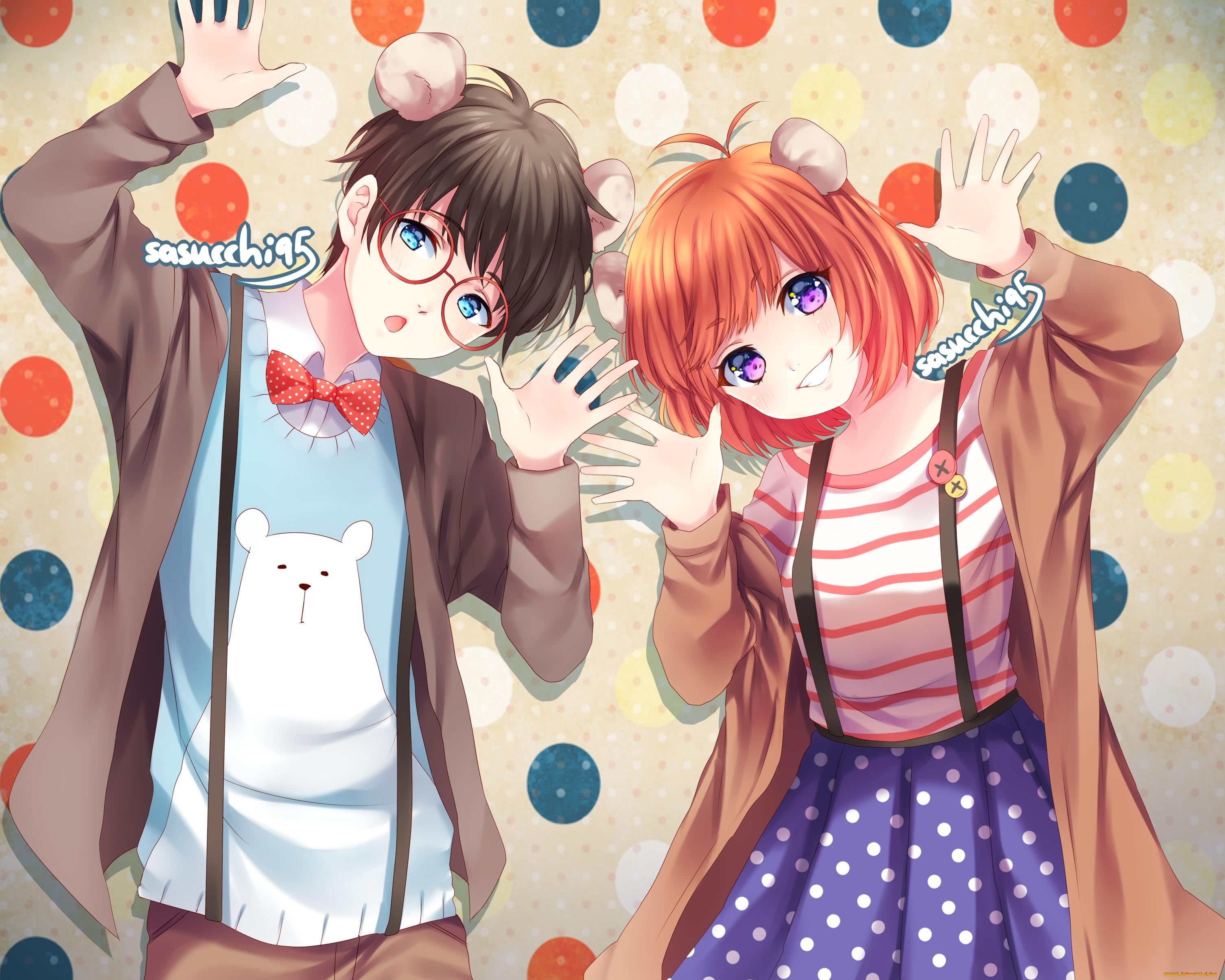 Прикольные картинки для аватарок мальчик и девочка аниме