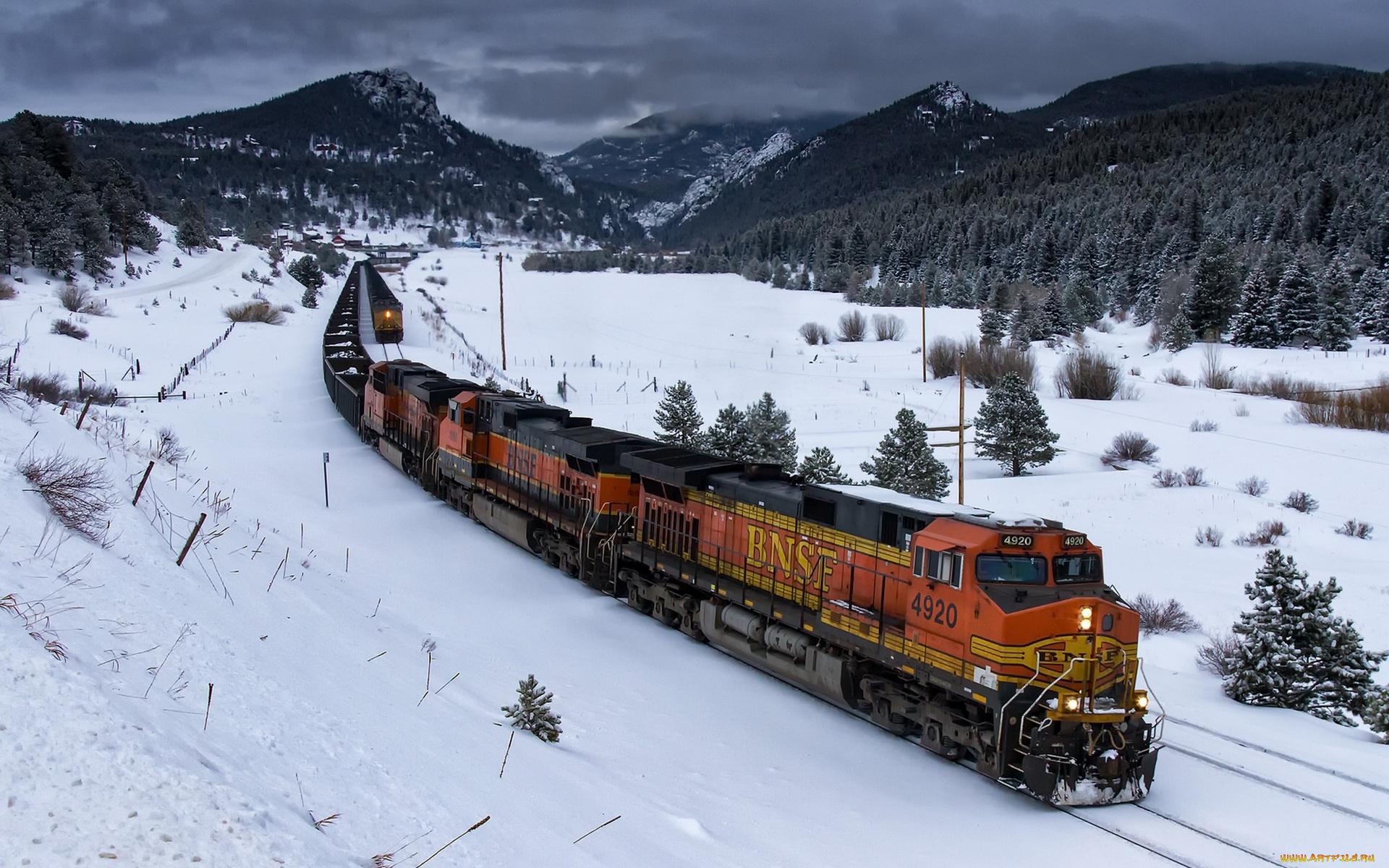 железная дорога снег railway snow без смс