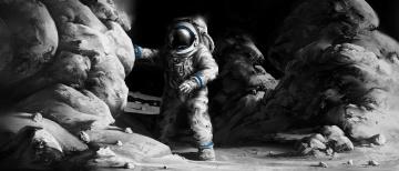 Картинка фэнтези иные+миры +иные+времена иной мир будущее астронавт пещера