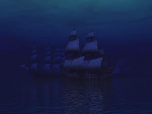 Картинка 3д графика sea undersea море парусники
