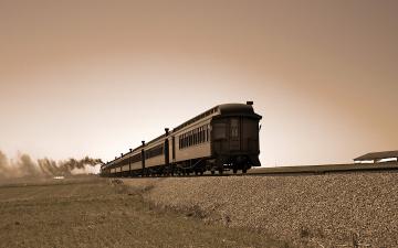 Картинка техника поезда вагоны рельсы