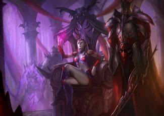 Картинка фэнтези красавицы чудовища монстры королева