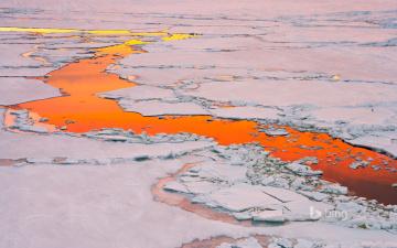 Картинка природа айсберги+и+ледники закат лед