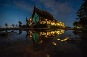 Картинка города -+здания +дома thailand night travel тайланд туризм вода lights tree dragons castle hd путешествие огни звезды ночь драконы дворец