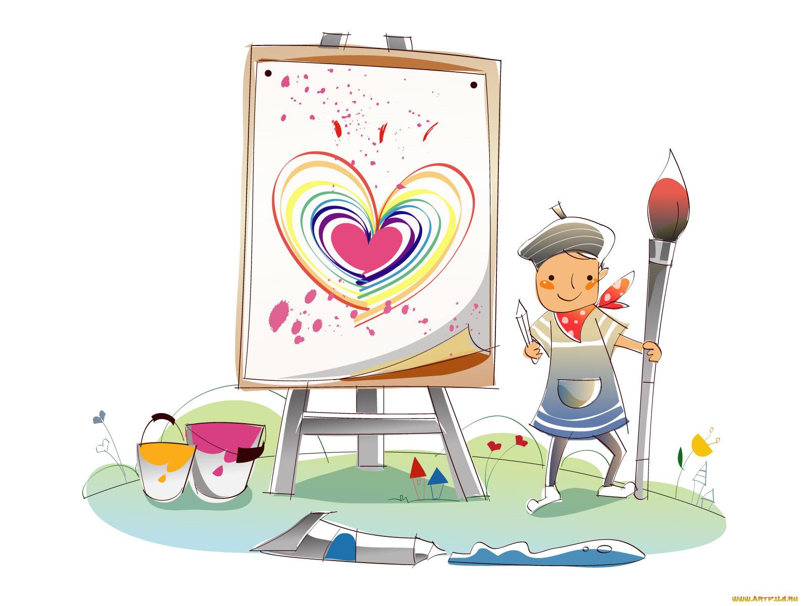 Днем рождения, ребенок рисует открытку образец