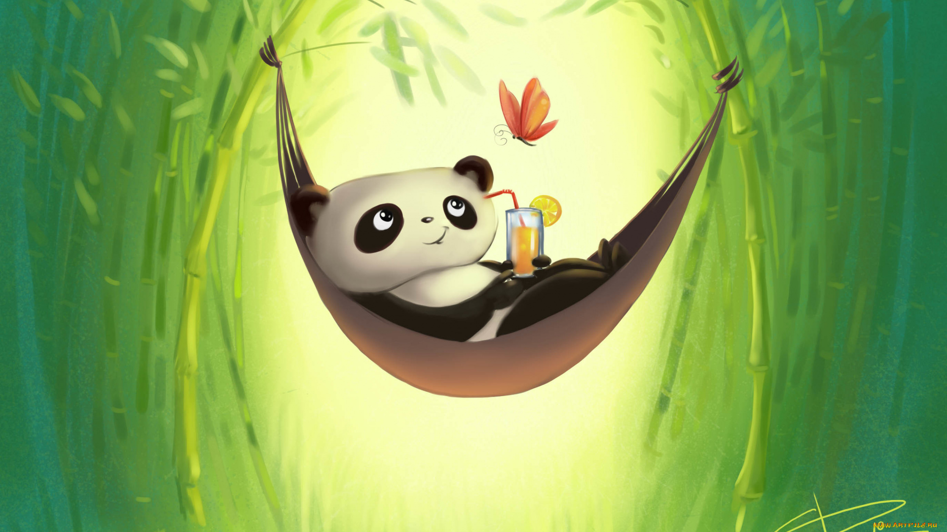 Монако, прикольная панда рисунок