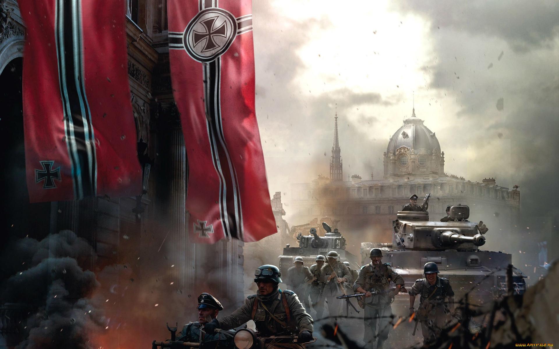 Солдаты с красным знаменем скачать