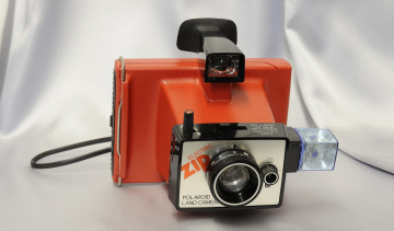 обоя polaroid electric zip, бренды, polaroid, фотокамера
