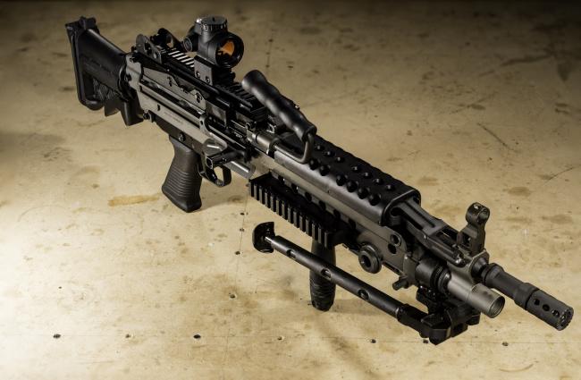Обои картинки фото оружие, пулемёты, пулемёт, fn, minini, m249