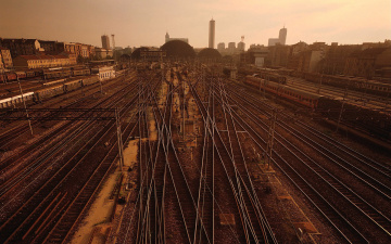 Картинка разное транспортные средства магистрали вокзал рельсы поезда