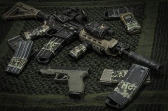 обоя оружие, glock, 26, карабин, м4, штурмовая, винтовка