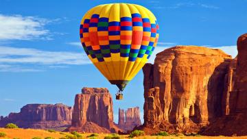 обоя авиация, воздушные шары, полет, шар, горы