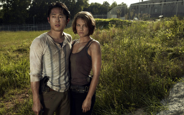 обоя кино фильмы, the walking dead, maggie, glenn, lauren, cohan