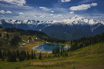 Картинка природа реки озера горы озеро лес