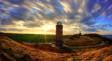 Картинка природа маяки рассвет