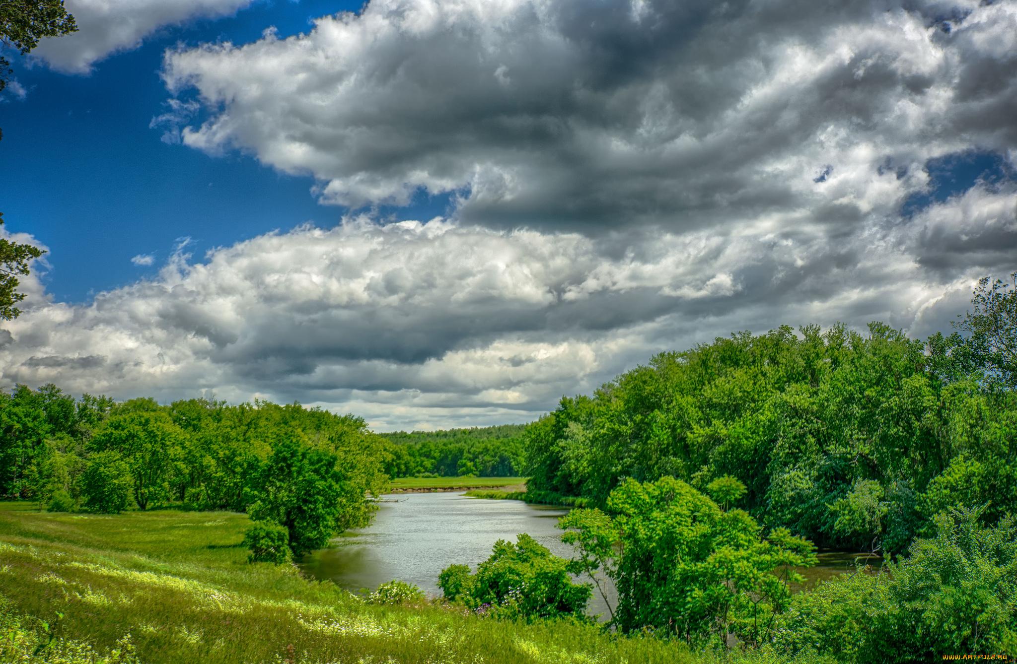 природа небо река  № 3804881  скачать