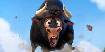 обоя ferdinand, мультфильмы, корова