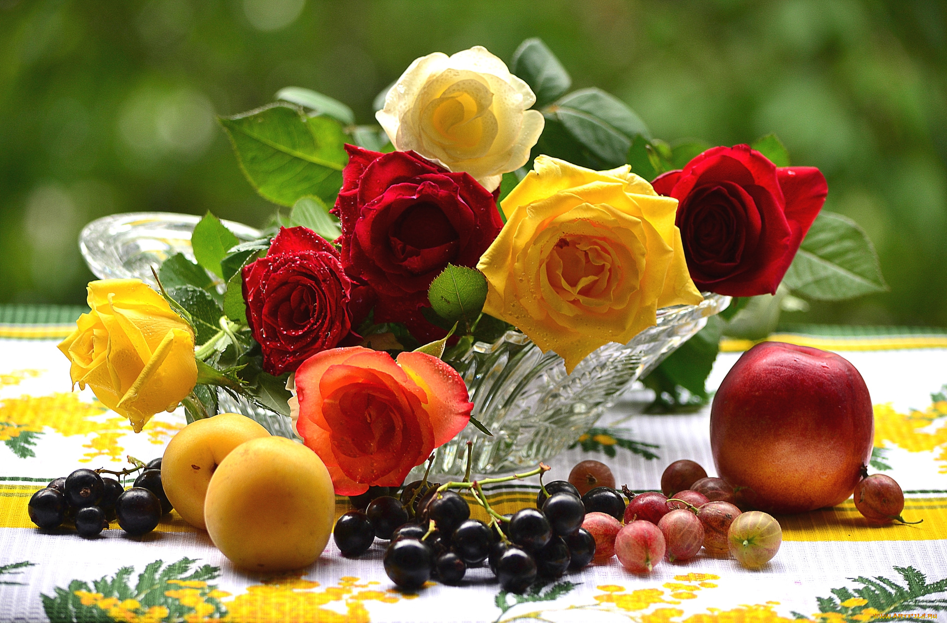 Открытки фруктов и цветов хорошего дня