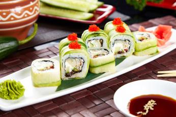 Картинка еда рыба +морепродукты +суши +роллы японский