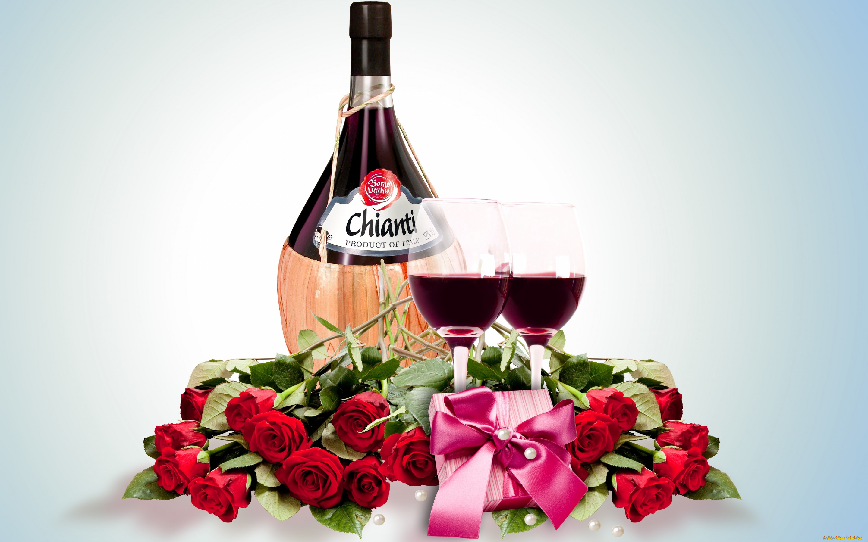 Розы и вино открытки, поздравление открытка