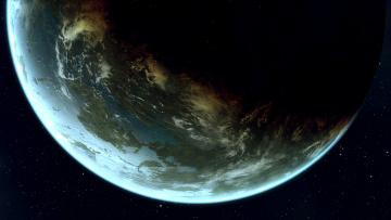 обоя космос, земля, планета, вселенная, галактика