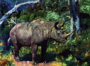 обоя рисованное, животные, растения, древнее, животное