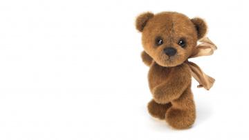 обоя разное, игрушки, белый, фон, мишка, медведь, бант