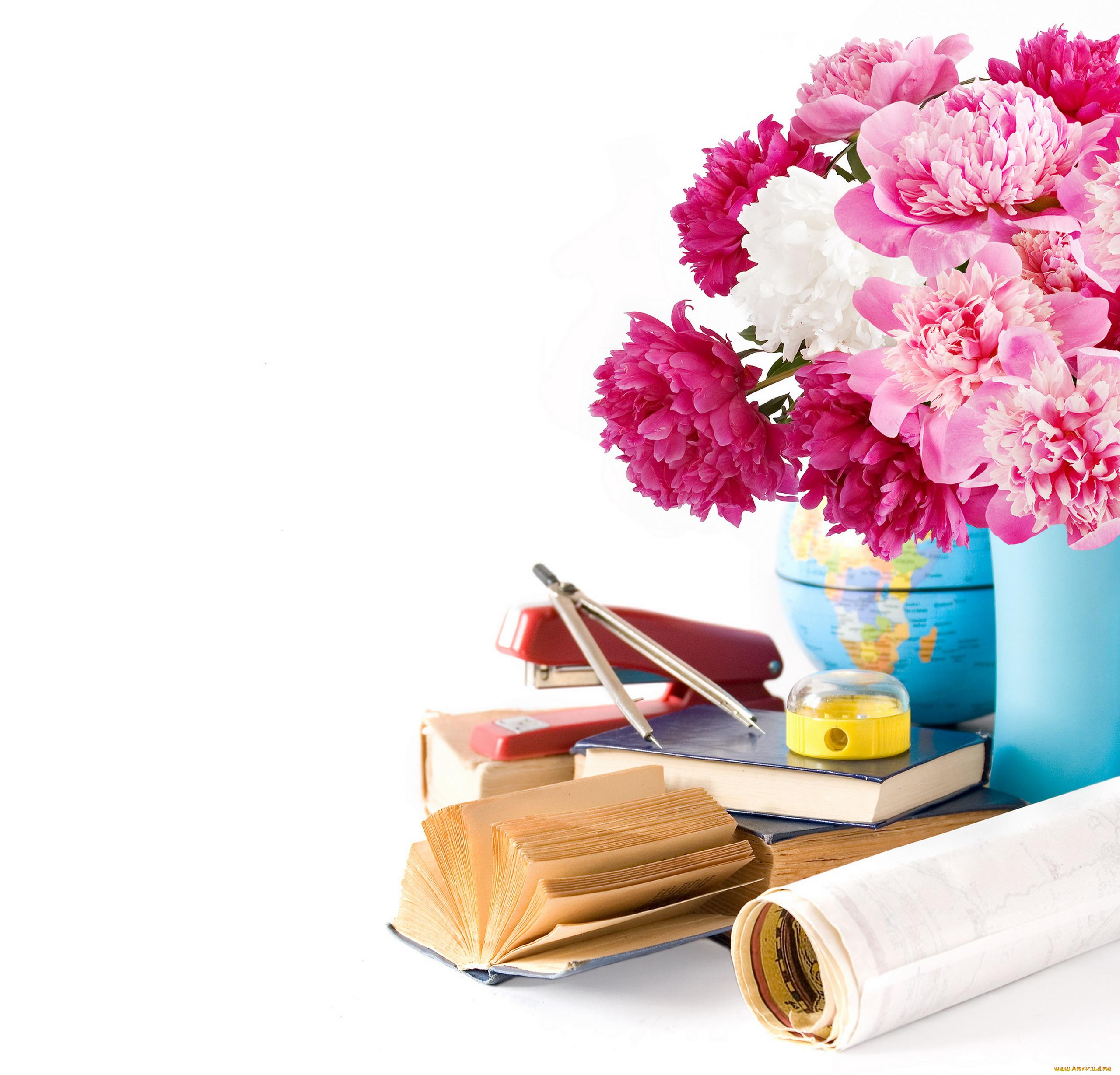 Открытка букет цветов ко дню учителя