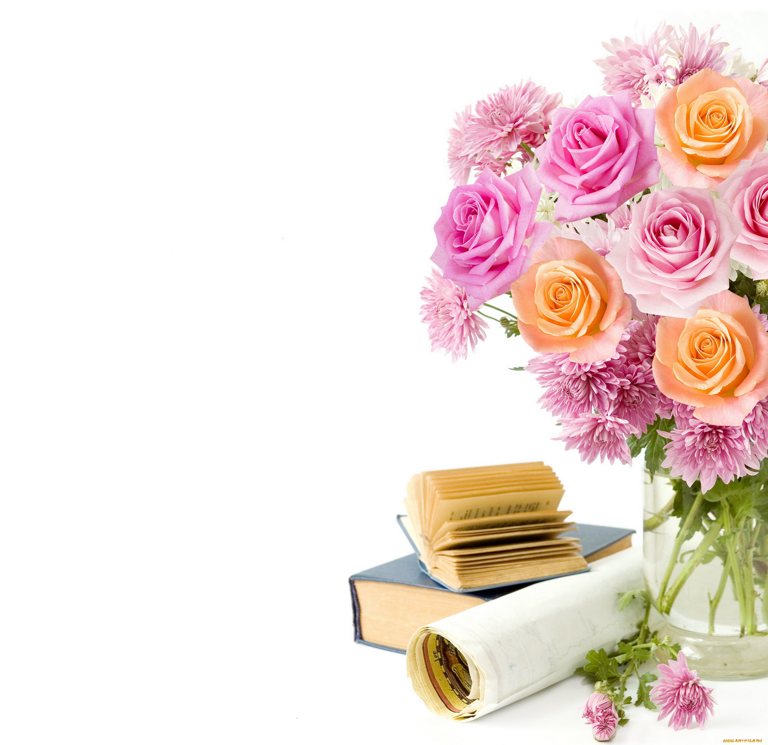 Картинка, школьная картинка с цветами