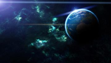 Картинка космос земля свет звезды
