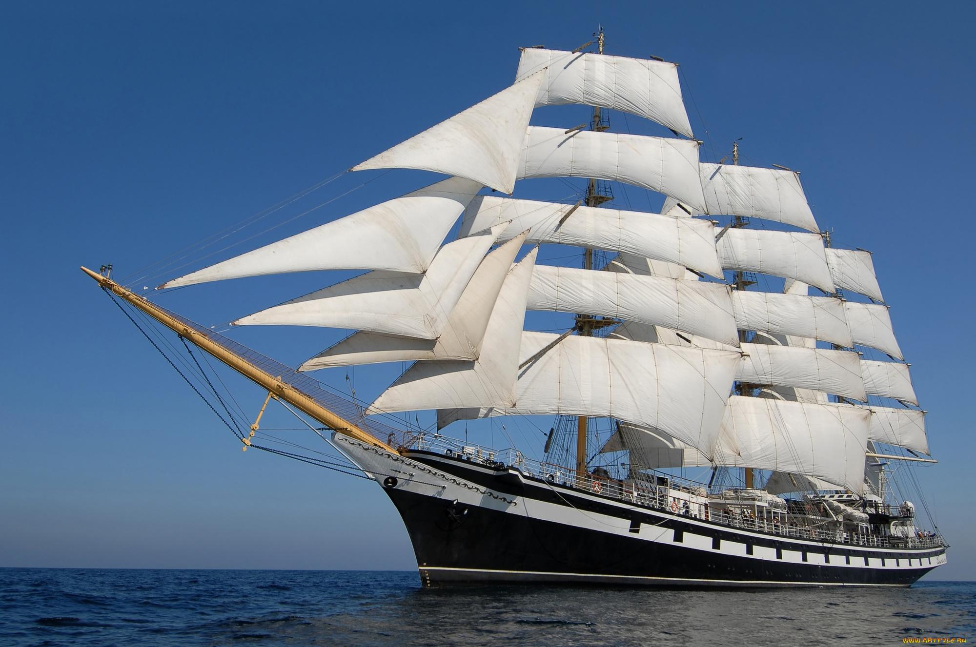 Днем, картинки парусные корабли в море