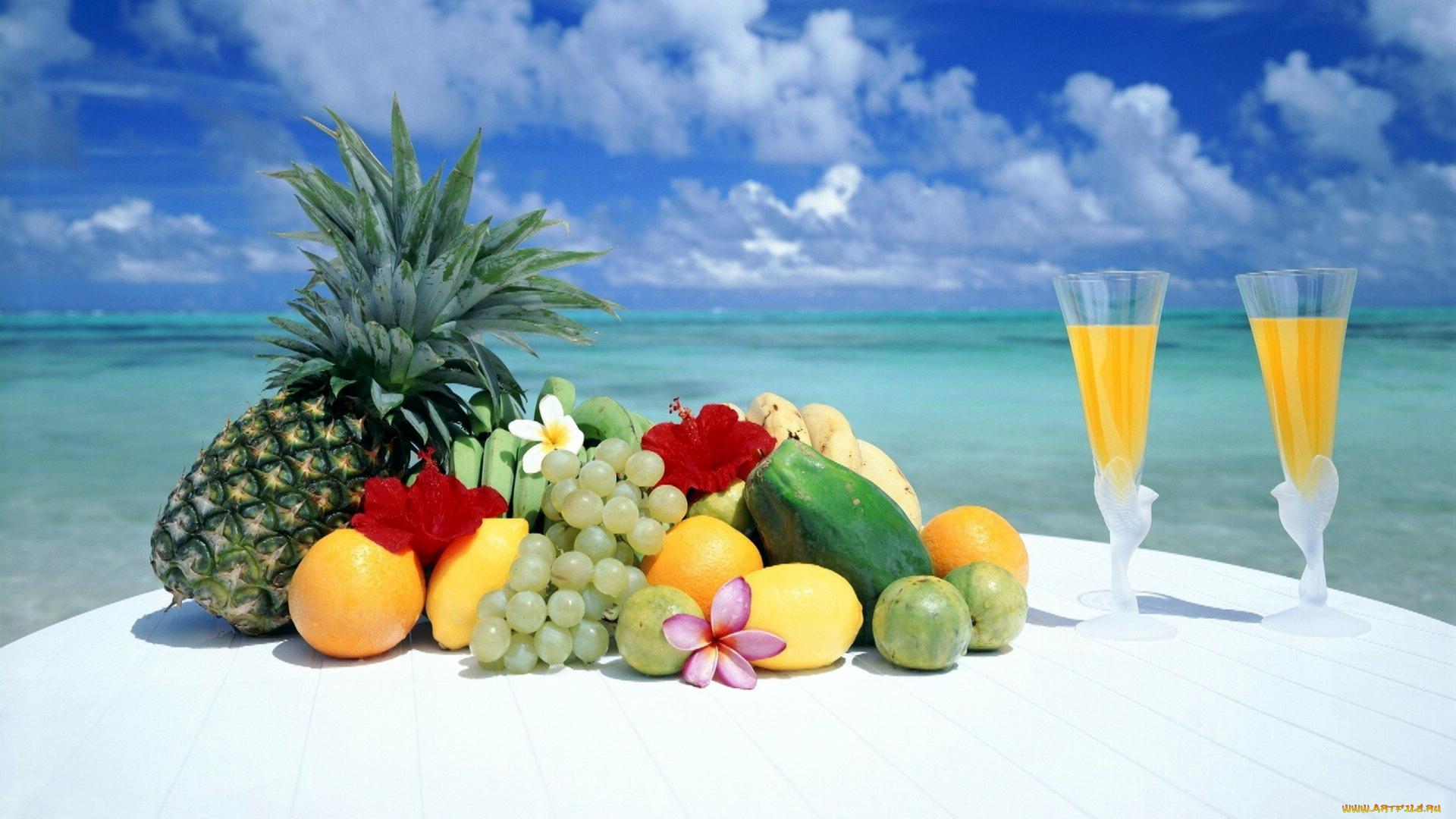 Картинки фрукты море