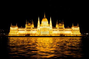 Картинка budapest+parliament города будапешт+ венгрия огни река ночь