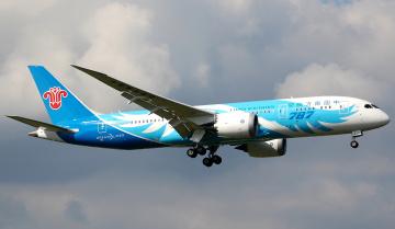 Картинка b787 авиация пассажирские+самолёты небо авиалайнер полет