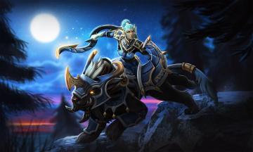 Картинка видео+игры dota+2 moon rider dota 2 ночь лес луна luna