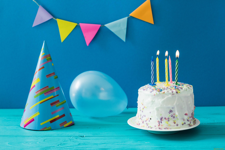 Картинки день рождения шарики и торт