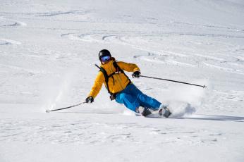 обоя спорт, лыжный спорт, лыжи, мужчина, снег